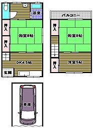 [テラスハウス] 大阪府河内長野市古野町 の賃貸【/】の間取り