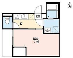 仙台市営南北線 長町一丁目駅 徒歩6分の賃貸アパート 3階1Kの間取り