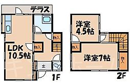[テラスハウス] 広島県安芸郡海田町三迫1丁目 の賃貸【/】の間取り