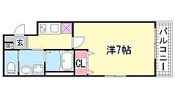 ワコーレヴィータ神戸下沢通Plus[F-306号室]の間取り