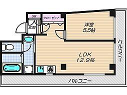 長堂ビル[3階]の間取り