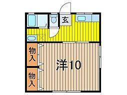 佐々木コーポ[1階]の間取り