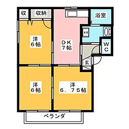 ファレノ B棟[1階]の間取り