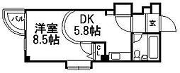 ミリオンコート[4階]の間取り