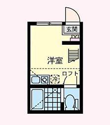 神奈川県横浜市西区浅間台の賃貸アパートの間取り