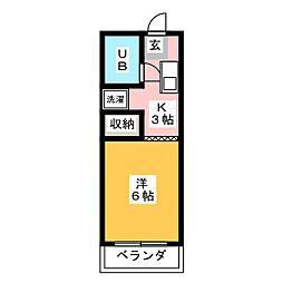 メゾン三貴[2階]の間取り