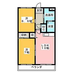 アベニール[4階]の間取り