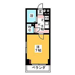 エクセレント・ビュー青葉[2階]の間取り