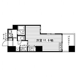 ARTIS仙台木町通 6階1Kの間取り