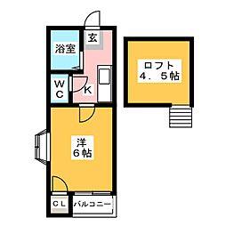 APT01(デザインリノベーション)[1階]の間取り