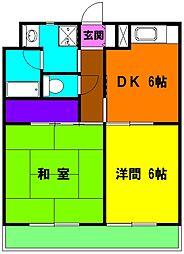 静岡県磐田市今之浦1丁目の賃貸マンションの間取り