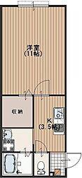 シンプルライフ[A101号室]の間取り