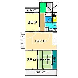 パークサイド高須II[2階]の間取り