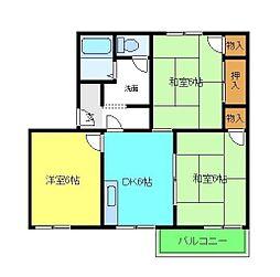 タウニー三松[2階]の間取り