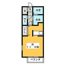 サンエム  B[2階]の間取り