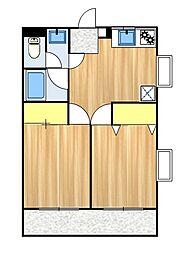 コーポ花水樹[101号室]の間取り
