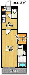 千葉県船橋市宮本1丁目の賃貸アパートの間取り