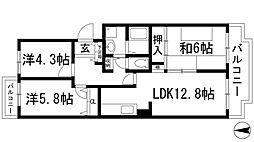 パストラルKIDA[3階]の間取り