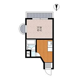 サンハイム5階Fの間取り画像