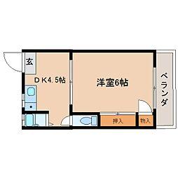 静岡県静岡市葵区瀬名の賃貸マンションの間取り