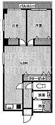 ハイマート麩屋町[201号室号室]の間取り