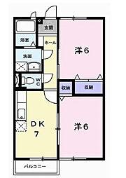 ドミールMT[1階]の間取り