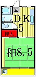 東京都足立区関原2丁目の賃貸マンションの間取り