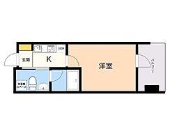 Randor Residence Fukuoka 6階1Kの間取り