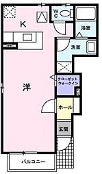 広島県福山市東川口町4の賃貸アパートの間取り