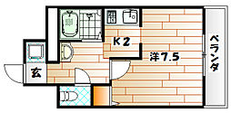 エース八幡マンション[4階]の間取り