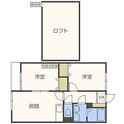 サンライフ カナヤマ[1階]の間取り