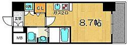 JR東海道・山陽本線 塚本駅 徒歩12分の賃貸マンション 4階ワンルームの間取り