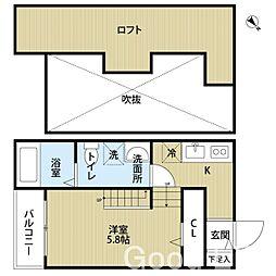 アパートメント 楓[1階]の間取り