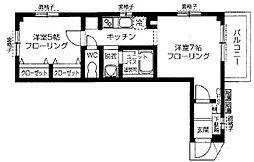 ボヌールK[1階]の間取り