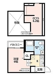 TOSCANINI(トスカニーニ)[2階]の間取り