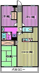 KSマンション原山[1階]の間取り