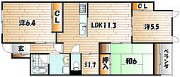 ココガモ&壷壷蒲生[2階]の間取り