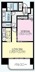香川県高松市花園町1丁目の賃貸マンションの間取り