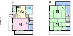 [一戸建] 埼玉県鶴ヶ島市富士見5丁目 の賃貸【/】の間取り