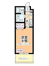 アルファコート川越脇田 I[405号室]の間取り