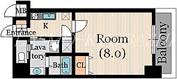 ラクラス大阪城[8階]の間取り