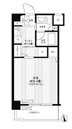 神奈川県横浜市都筑区仲町台4丁目の賃貸マンションの間取り