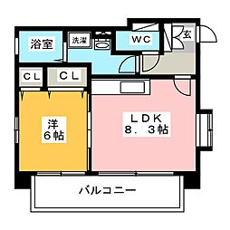 ル・クラージュ箱崎[4階]の間取り
