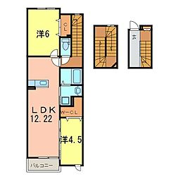 グランディアIII[3階]の間取り
