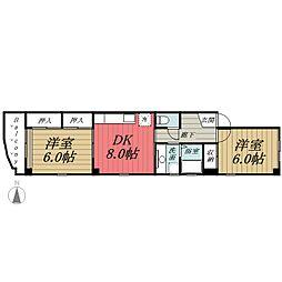 千葉県千葉市中央区本町3丁目の賃貸マンションの間取り