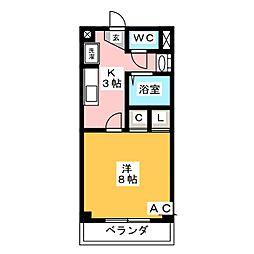 サニーコート天白[1階]の間取り