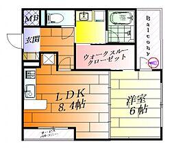 協同レジデンス千里丘[6階]の間取り