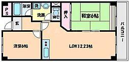 智関第3マンション[4階]の間取り