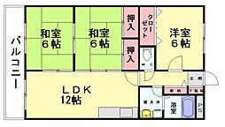 博多の森南[2階]の間取り