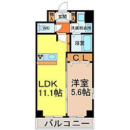 愛知県名古屋市中川区西日置町10丁目の賃貸マンションの間取り